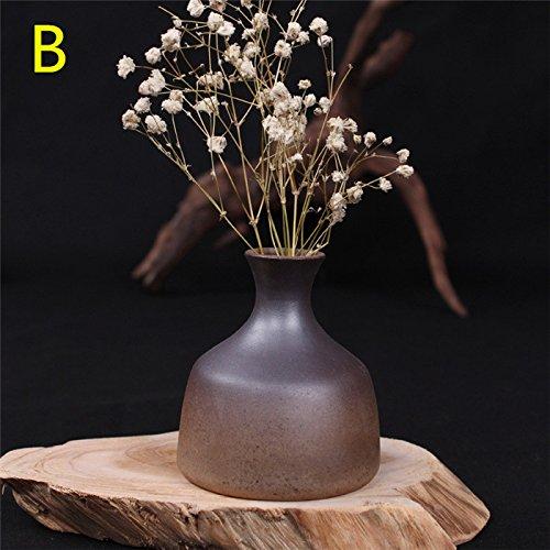 Bluelover Keramik Vase Zakkz Flasche Keramik-Ornamente Blume Ordnen Sie Keramik Glasiert Inneneinrichtungen -B