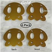 Pitch 53mm Junta de metal para skateboard longboard tablas deck 4-pack (Gold calamar)