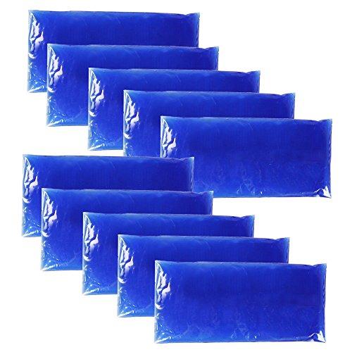 com-four® 10x Mehrfach-Kompresse kalt und warm 28 x 11,5 cm - Mikrowellen geeignet (Kühlen-gel Pack)