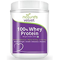 Natures Velvet 100% Whey Protein for Fitness and Strength - 400 g (Unflavored)
