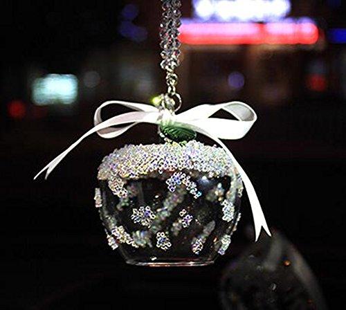 Specchietto retrovisore auto ornamento auto ciondolo swarovski 2016crystal angel crystal ball auto fascino, black