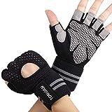 Tomuku Fitness Handschuhe Trainingshandschuhe Sporthandschuhe mit Handgelenkstütze für Radsport,...