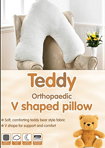 v-shaped-supersoft-teddy-bear-sherpa-fleece-orthopaedic-nursing-pillow-with-cover
