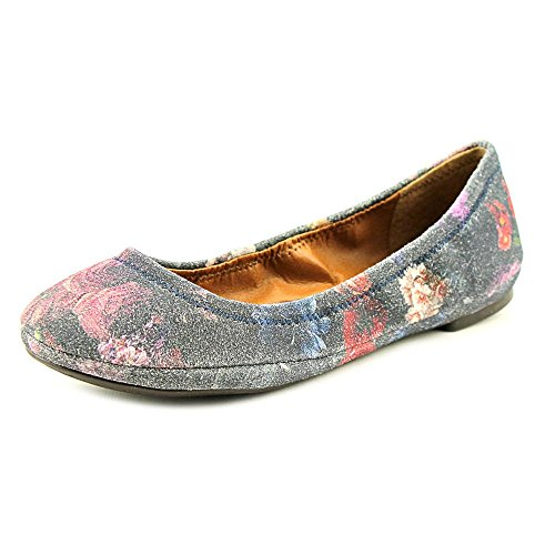 Lucky Brand Emmie Large Daim Ballerines Moody Blooms