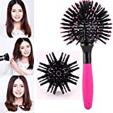 VALAMJI 3D Hair Brush Ball Style Blow Drying Detangling Salon Heat Resistant Comb