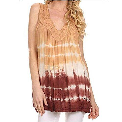 Highdas Sexy Girl Tops Women Plus Size Fashion Print Sleeveless V-Neck Casual Shirt Vest Blouse