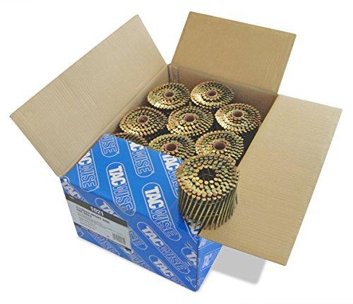 Tacwise 1021 Coilnägel (Glänzend Flachring,3,1/90mm) 4.000 Stück pro Box