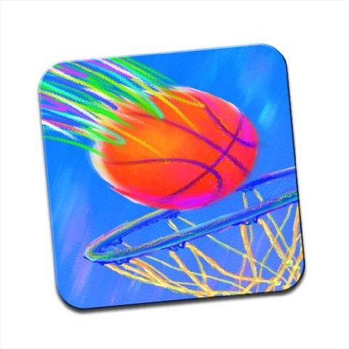 Enfants de craie dessin simple filet de basket-ball Going en dessous