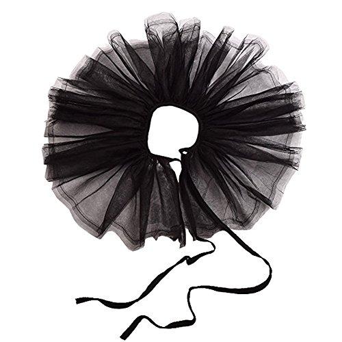 BLESSUME Gotisch Cosplay Punk Spitze & Legierung Retro Mesh Hals Halskrause Rüsche Halsband - Kragen Harlekin Kostüm