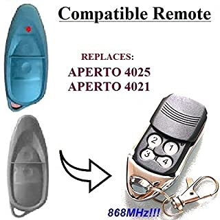 APERTO 4025, APERTO 4021 TX02-868-2 Compatible 868,8MHz remote control replacement, 868,8 MHz!!! Top Quality transmitter!!! 100% Compatible with 868,8MHz Aperto remotes!!! Rolling code!!!
