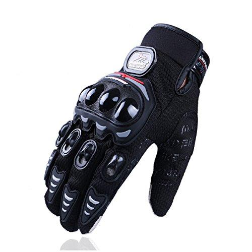 Madbike Guanti di motocicletta estiva trasparente trasparente dello schermo di tocco (XL, black)