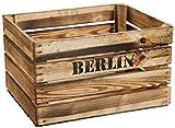 geflammte Massive Obstkiste 49 x 42 x 31cm / Apfelkiste/Weinkiste aus dem Alten Land (Berlin)