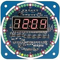 DIY DS1302 Juego de reloj electrónico digital con luz LED 51 MCU Kit de inicio de aprendizaje