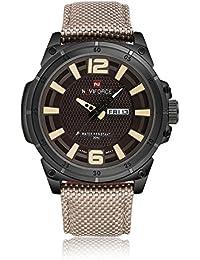 efb97aced135 Gokelly Marca de lujo naviforce Moda Japón movimiento Swiss Militar Hombre  Relojes deportivos 30 M impermeable