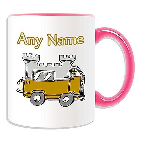 Cadeau personnalisé–en Mug Design (Transport thème, Couleur)–N'importe Quel Nom/Message sur