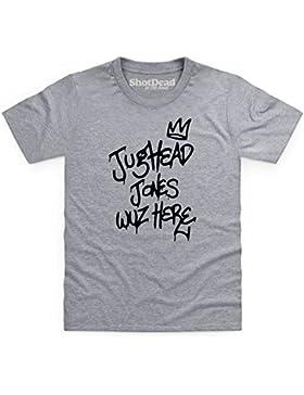 Kids Tees Inspired by Riverdale - Jughead Wuz Here Camiseta infantil, Para Nios