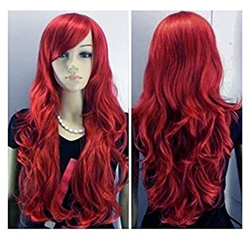 BERON-30-Sexy-Long-Lady-Fashion-Loose-Full-Wig-New-Fancy-Dress-Wine-Red