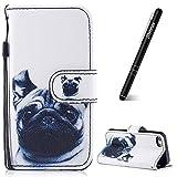 Slynmax Housse iPhone 5S,Coque iPhone 5/5S/SE, Bulldog Case de Fleur Bumper Etui de...