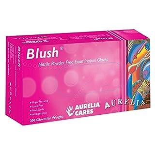 SUPERMAX 78886Aurelia Blush Nitril Handschuhe, puderfrei, Klein, Pink (200Stück)
