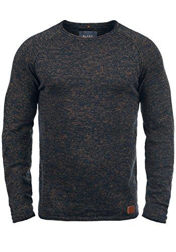 Blend Dan Herren Strickpullover Feinstrick Pullover Mit Rundhals Und Melierung, Größe:3XL, Farbe:Burned Orange (73823)