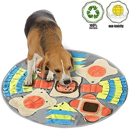 Schnüffelteppich für Hunde, Hund Riechen Trainieren Spielen Matte Pet Nose Arbeitsdecke für Nahrungssuche Fähigkeiten Stress Release (Durchmesser: 29.5in/75cm)