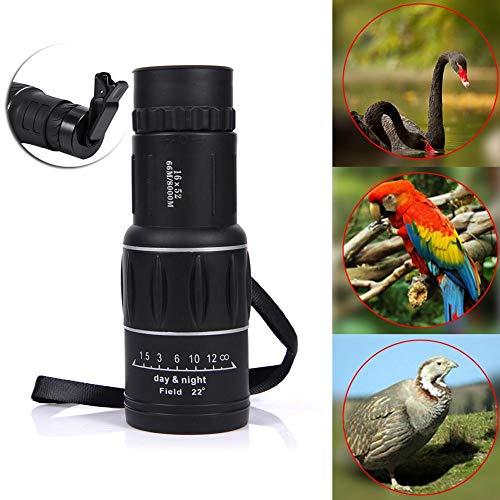 whelsara 16x52 Dual Focus Zoom Optiklinse Tag Nachtsichtgerät Monocular Teleskop HD Optisches...