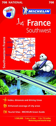 Southwestern France 2015 - Michelin National Map 708 (Michelin Regional Map) por Michelin
