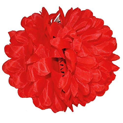 Blumen Haarspange zum Spanierin oder Hawaii Kostüm - Rot