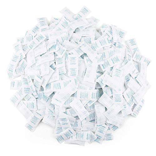 LotFancy Trockenmittel Silicagel Desikkant, 0,5 g × 300 Stück, Sicherer Feuchtigkeitsabsorber für die Lagerung, Geruchsneutral