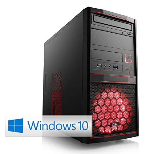 CSL Multimedia PC Sprint X5845 (Quad) inkl. Windows 10 - AMD A10-9700 4X 3500 MHz, 8 GB RAM, 1000 GB SATA, Radeon R7, DVD-RW, Gigabit LAN, USB 3.1 9700 Quad