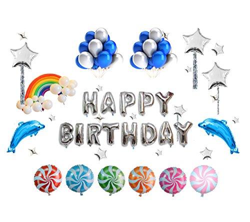 Geburtstagsfeier-Ballon Satz (93 Stücke) - Happy Birthday Briefe, Ballons und Feier Party Dekoration Zubehör ()