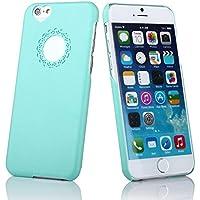 delightable24 Cover Case Rigida Disegno Cuore Smartphone APPLE iPHONE 6 / 6S - Turchese - Pietra Preziosa Del Turchese Giallo