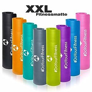#DoYourFitness XXL Fitnessmatte »Ashanti« / dick und weich, ideal für Pilates, Gymnastik und Yoga, Maße: 190 x 100 x 1,0cm / In vielen Farben erhältlich.