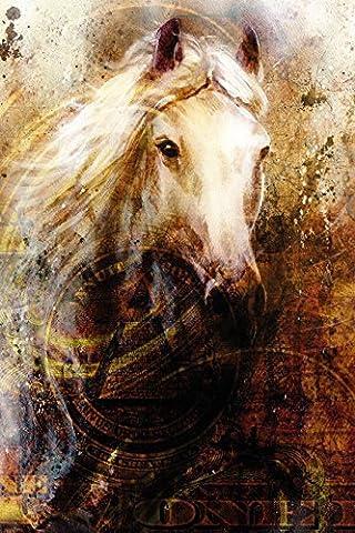 kleb-drauf® - Pferd auf Dollar-Schein - Poster (40x50 cm - ohne Bilderrahmen)