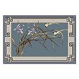 BAGEHUA Teppich Chinesische Moderne Minimalistische Couchtisch Arbeitszimmer Leere Valley Orchid Bett Bettdecke Schlafzimmer Wohnzimmer,Maßgeschneiderte,A