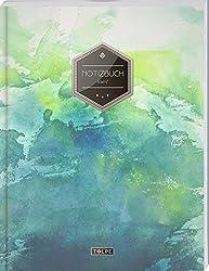 """TULPE Liniertes Notizbuch A4 """"C003 Grunge"""" (140+ Seiten, Vintage Softcover, Doppelrand, Seitenzahlen, Register - Dickes Notizheft, Deutschheft, Schreibheft, Schulheft, Tagebuch, Lineatur 27)"""