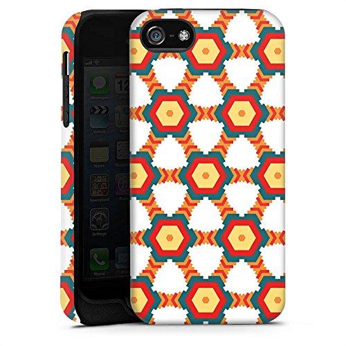 Apple iPhone X Silikon Hülle Case Schutzhülle Indianer Mode Muster Tough Case matt