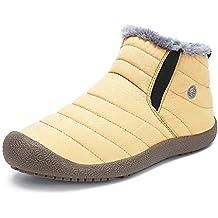 SAGUARO® Hombre Mujer Botines De Invierno Cortas Fur Aire Libre Boots Botas
