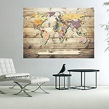 Murando   3D WANDILLUSION 140x100 Cm Wandbild Fototapete Poster XXL Vlies  Leinwand Panorama Bilder Dekoration WeltKarte