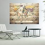 murando - 3D WANDILLUSION Wandbild Fototapete Poster XXL Vlies Leinwand Panorama Bilder Dekoration WeltKarte Welt Karte Kontinente 70x50 cm