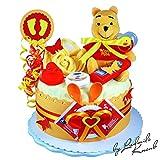 Torta di Pannolini/Pampers torte   Winnie the Pooh, Baby regalo per ragazze e ragazzi in schoenem 2color: Arancione/Rosso (Neutral)//Regalo per la nascita, Battesimo, Baby Party//originale e pratico regalo per bambino