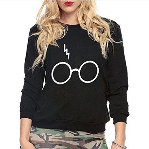 ter GLÄSER Mädchen Blitz Feuerzeug Logo schwarz(Größe XL) (Heiße Girls In Sport-trikots)