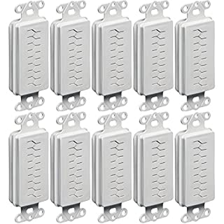 Arlington Industries CED130-10 1-Gang Cable Entry Device with Slotted Cover (Pack of 10), White