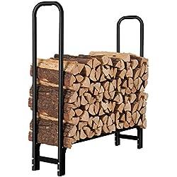 ORIENTOOLS Étagère à bûches pour cheminée en Bois pour intérieur et extérieur 1.25 m