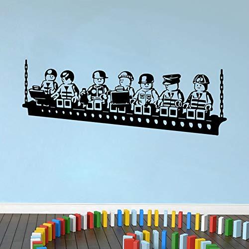 JXTK Roboter Lego Spiel Poster Vinyl Wandaufkleber Für Kinderzimmer Dekoration Jungen Zimmer Wandkunst Aufkleber Wandbild Kindergarten Schlafzimmer Dekor 57X150 CM