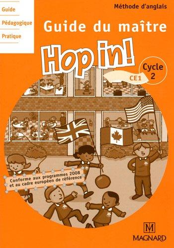 Anglais CE1 Hop in! : Guide du maître, programme 2008 (3CD audio) par Elisabeth Brikké