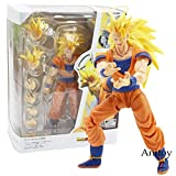 SHF SHFiguarts Dragon Ball Z Super Saiyan 3 Fils Goku Figurine PVC-Ball-Collection Modèle Jouet ssj3 Goku Figurine