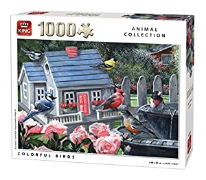 King Animal Collection Birds 1000 pcs Puzzle - Rompecabezas (Puzzle Rompecabezas, Fauna, Adultos, Prodigar, Hombre/Mujer, 8 año(s))