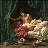 Posterlounge Alu Dibond 120 x 120 cm: Mars und Venus eine Allegorie des Friedens von Louis Jean Francois Lagrenee