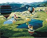 DIY Vorgedruckt Leinwand-?lgem?lde Geschenk f¨¹r Erwachsene Kinder Malen Nach Zahlen Kits Home Haus Dekor - HEI?Luftballon Welt 40*50 cm